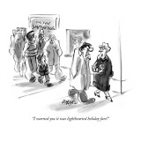 """I warned you it was lighthearted holiday fare!"" - New Yorker Cartoon Premium Giclee Print by Lee Lorenz"