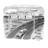 'Road Rage Highway' - New Yorker Cartoon Premium Giclee Print by Roz Chast