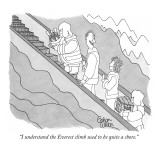"""I understand the Everest climb used to be quite a chore."" - New Yorker Cartoon Premium Giclee Print by Gahan Wilson"