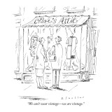 """We can't wear vintage—we are vintage."" - New Yorker Cartoon Premium Giclee Print by Barbara Smaller"