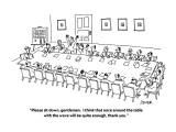 """Please sit down, gentlemen.  I think that once around the table with the …"" - New Yorker Cartoon Premium Giclee Print by Jack Ziegler"