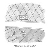"""The one on the left is cute."" - New Yorker Cartoon Premium Giclee Print by Jack Ziegler"
