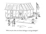 """Which came first, Mom, the Chicken McNugget or the Egg McMuffin?"" - New Yorker Cartoon Premium Giclee Print by Michael Maslin"
