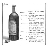 Wine bottle with eight things to say at different levels of intoxication - New Yorker Cartoon Premium Giclee Print by Harry Bliss