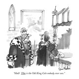 """Hah! This is the Old King Cole nobody ever sees."" - New Yorker Cartoon Premium Giclee Print by Dana Fradon"