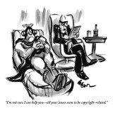 """I'm not sure I can help you—all your issues seem to be copyright-related."" - New Yorker Cartoon Premium Giclee Print by Lee Lorenz"