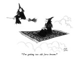 """""""I'm getting too old for a broom."""" - New Yorker Cartoon Premium Giclee Print by Joseph Farris"""