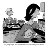 """Are you going to trust your father's selective memory over mine?"" - New Yorker Cartoon Premium Giclee Print by William Haefeli"