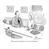 """They say the early forties is the new late thirties."" - New Yorker Cartoon Premium Giclee Print by Leo Cullum"