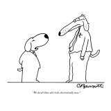 """We do all those old tricks electronically now."" - New Yorker Cartoon Premium Giclee Print by Charles Barsotti"