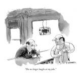 """She no longer laughs at my joke."" - New Yorker Cartoon Premium Giclee Print by Pat Byrnes"