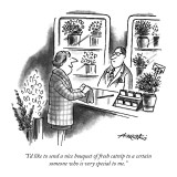"""I'd like to send a nice bouquet of fresh catnip to a certain someone who …"" - New Yorker Cartoon Premium Giclee Print by Henry Martin"
