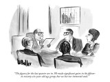 """The figures for the last quarter are in. We made significant gains in the…"" - New Yorker Cartoon Premium Giclee Print by Warren Miller"