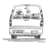 """I'd Rather Be Working"" - New Yorker Cartoon Premium Giclee Print by Pat Byrnes"