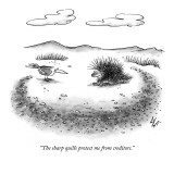 """The sharp quills protect me from creditors."" - New Yorker Cartoon Premium Giclee Print by Frank Cotham"