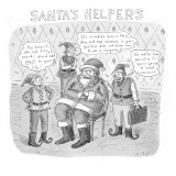 Santa's Helpers - New Yorker Cartoon Premium Giclee Print by Roz Chast