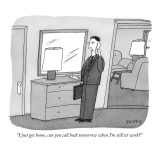 """I just got home. can you call back tomorrow when I'm still at work?"" - New Yorker Cartoon Premium Giclee Print by Peter C. Vey"