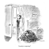 """Laundry or composting?"" - New Yorker Cartoon Premium Giclee Print by Pat Byrnes"