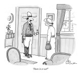"""Pants in or out?"" - New Yorker Cartoon Premium Giclee Print by Leo Cullum"