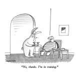 &quot;No, thanks.  I&#39;m in training.&quot; - New Yorker Cartoon Premium Giclee Print by Mick Stevens
