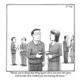 """Honey, you're doing that thing again where you stare into space and wonde…"" - New Yorker Cartoon Premium Giclee Print by Harry Bliss"