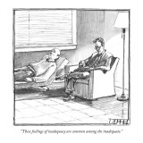 """These feelings of inadequacy are common among the inadequate."" - New Yorker Cartoon Premium Giclee Print by Matthew Diffee"