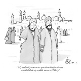 """My authority was never questioned before it was revealed that my middle n…"" - New Yorker Cartoon Premium Giclee Print by Leo Cullum"