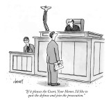 """If it pleases the Court, Your Honor, I'd like to quit the defense and joi…"" - New Yorker Cartoon Premium Giclee Print by Tom Cheney"