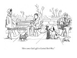 """Here comes God's gift to Central Park West."" - New Yorker Cartoon Premium Giclee Print by Edward Frascino"