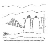 """""""And right about then the price of great big stones went out of sight."""" - New Yorker Cartoon Premium Giclee Print by Gahan Wilson"""