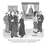 """My bill isn't terribly controversial.  It would provide modest tax breaks…"" - New Yorker Cartoon Premium Giclee Print by J.B. Handelsman"