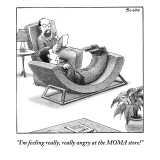 """""""I'm feeling really, really angry at the MOMA store!"""" - New Yorker Cartoon Premium Giclee Print by Harry Bliss"""