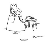 &quot;Castle.&quot; - New Yorker Cartoon Premium Giclee Print by Charles Barsotti
