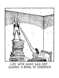 Life With Hans Was Not Always A Bowl Of Cherries. - New Yorker Cartoon Premium Giclee Print by Glen Baxter