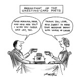 Breakfast Of The Greeting-Card Poets - New Yorker Cartoon Premium Giclee Print by Henry Martin