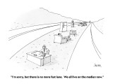"""I'm sorry, but there is no more fast lane.  We all live on the median now."" - New Yorker Cartoon Premium Giclee Print by Jack Ziegler"