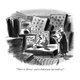 """That's it, Henry—you've dialed your last mattress!"" - New Yorker Cartoon Premium Giclee Print by Lee Lorenz"