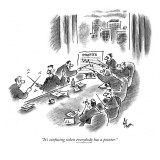 """It's confusing when everybody has a pointer."" - New Yorker Cartoon Premium Giclee Print by Frank Cotham"