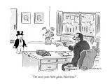 """I'm on to your little game, Harrison!"" - New Yorker Cartoon Premium Giclee Print by Danny Shanahan"