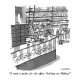 """I need a jacket for the office.  Nothing too Hillary."" - New Yorker Cartoon Premium Giclee Print by Michael Crawford"