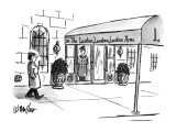 Man walks by a swanky-looking building. The awning reads: The Location, Lo… - New Yorker Cartoon Premium Giclee Print by Warren Miller