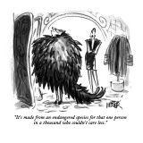 """It's made from an endangered species for that one person in a thousand wh…"" - New Yorker Cartoon Premium Giclee Print by Robert Weber"