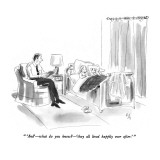 """ 'And'—what do you know?—'they all lived happily ever after.'"" - New Yorker Cartoon Premium Giclee Print by Everett Opie"