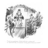 """""""I ask you, gentlemen. Which will it be—a prison cell or Apartment 6B, 120… Premium Giclee Print by Leonard Dove"""