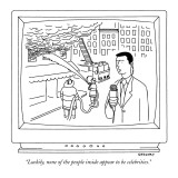 """Luckily, none of the people inside appear to be celebrities."" - New Yorker Cartoon Premium Giclee Print by Alex Gregory"