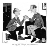 """I'm sorry, Jim.  I love you, but I hate Vermont."" - New Yorker Cartoon Premium Giclee Print by William Haefeli"