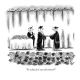 &quot;To what do I owe this honor?&quot; - New Yorker Cartoon Premium Giclee Print by Frank Cotham