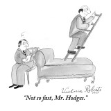 """Not so fast, Mr. Hodges."" - New Yorker Cartoon Premium Giclee Print by Victoria Roberts"