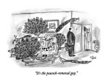 """It's the peacock-removal guy."" - New Yorker Cartoon Premium Giclee Print by Victoria Roberts"