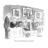 """Do you know Kimberly, my attorney?"" - New Yorker Cartoon Premium Giclee Print by Edward Frascino"